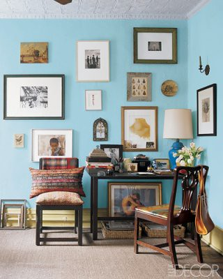 Sky blue living room: Benjamin Moore 'Old Pickup Blue'