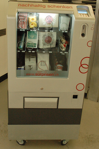 the Swiss vending machine: emmenthaler, Rivella, toblerone, cows...