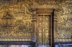 Behind The Gold Door (JRaptor) Tags: temple nikon buddha buddhism laos wat hdr luangprabang 3ds watmai