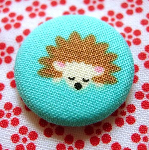 Sleepy Hedgehog Pin