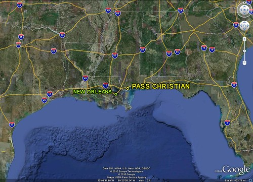 location of Pass Christian (Google Earth)