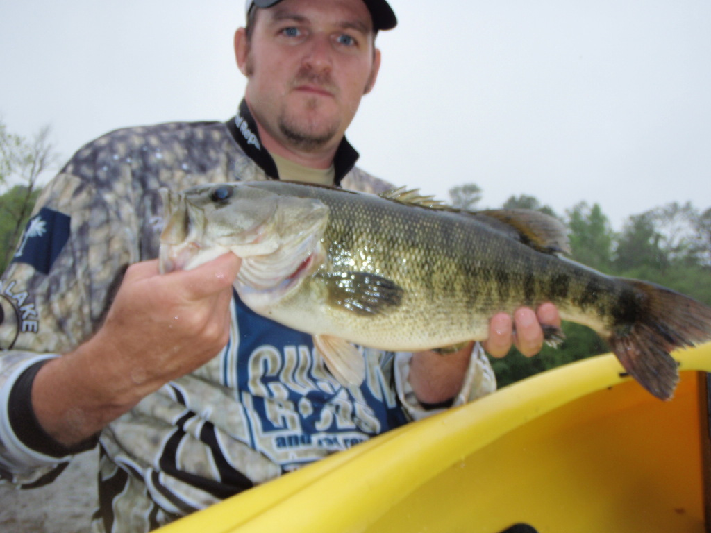 Hal Lambert's 20.75 inch shoal bass that helped him win the   Jackson Kayak avid angler division of the river bassin tournament trail