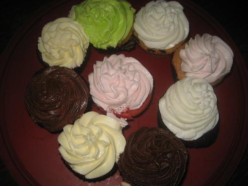 David's Birthday Cupcakes