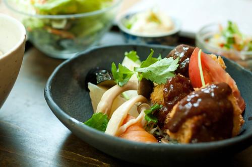 高野豆腐のカツレツ