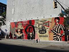 Full Mural Shot (agent j loves nyc) Tags: new york city nyc streetart eastvillage art wall graffiti mural lowereastside obey houstonstreet shepardfairey deitchprojects