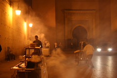 Esoteric light near Bab Boujeloud, Fez (catarinamaria) Tags: night lights fez medina oldtown fes lpnightlife