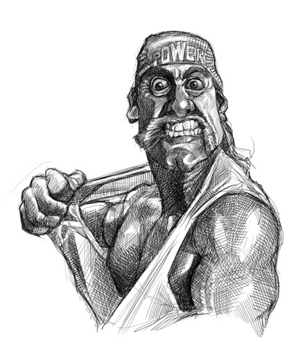 digital sketch of Hulk Hogan - 6