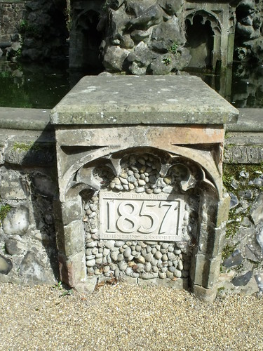The Plantation Garden, Norwich - water feature 1857 - Gothic Fountain