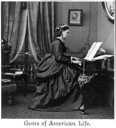 c. 1850's Woman at Piano