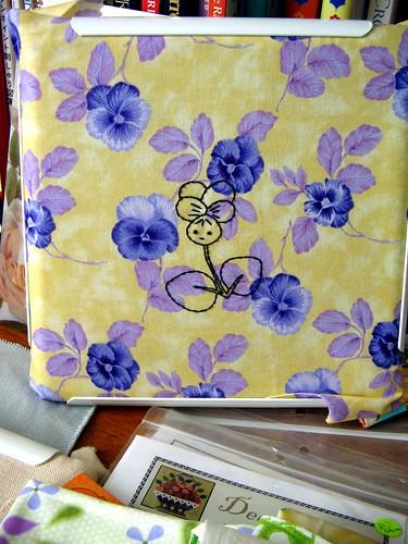 restless violet--chillin' on my desk