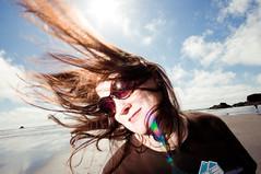 Day 313: Happy Hair Flip at Ruby Beach (poopoorama) Tags: portrait sky woman sun beach clouds hair washington flip margaret forks rubybeach project365 strobist 1020mmf456 nikond300