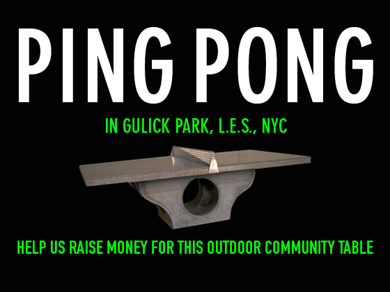 Ping Pong on the Lower East Side | ioby