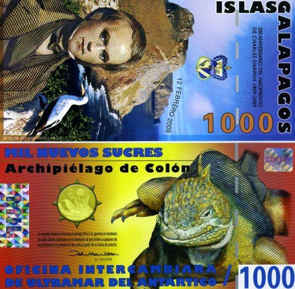 1000 Sucres Galapágy 2009