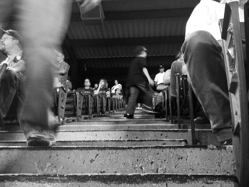 9th Inning, iPhoneography, Vint B&W