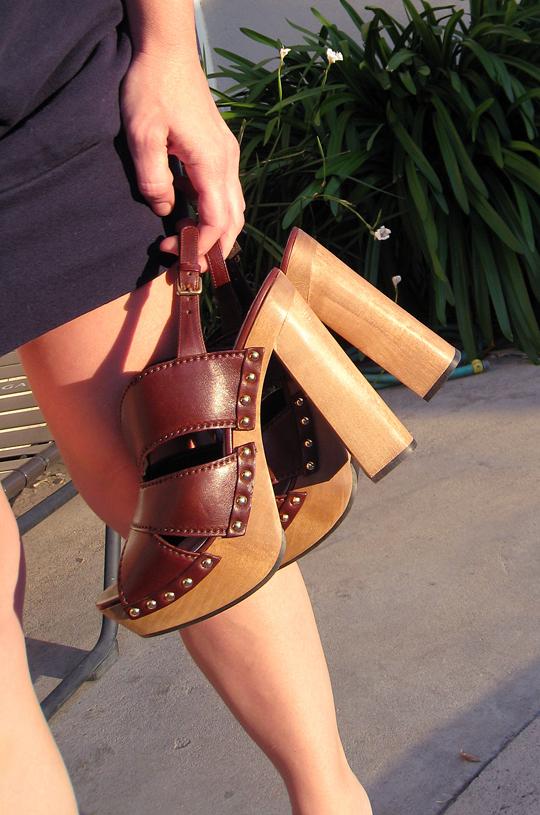 Miu Miu CLogs+platform studded sandals -1