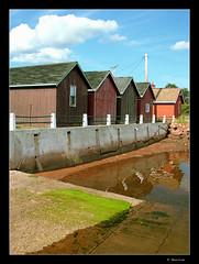 Victoria Boatsheds (Ben Cue) Tags: canada photo image victoria photograph princeedwardisland boatsheds victoriabythesea landscapesshotinportraitformat bencue