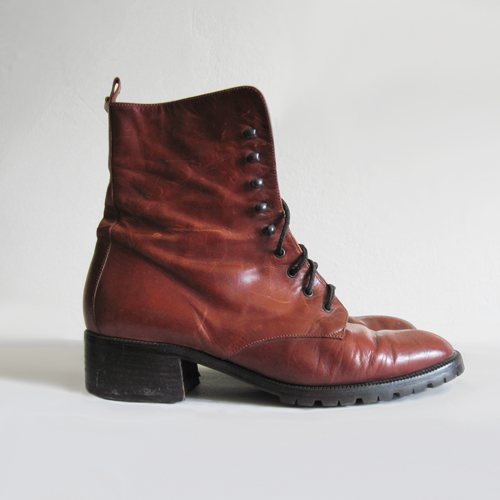 joan & david couture vintage leather boots