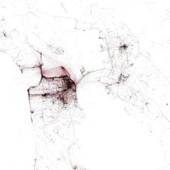 Motion within San Francisco / Berkeley / Oakland recorded by geotagging photographers