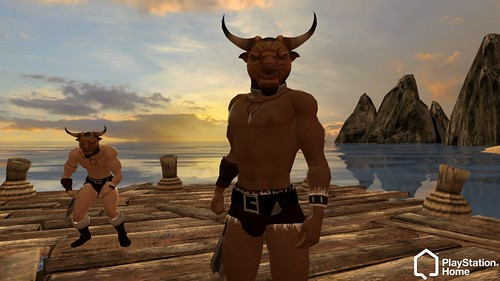 Minotaur Head for PlayStation Home on PS3