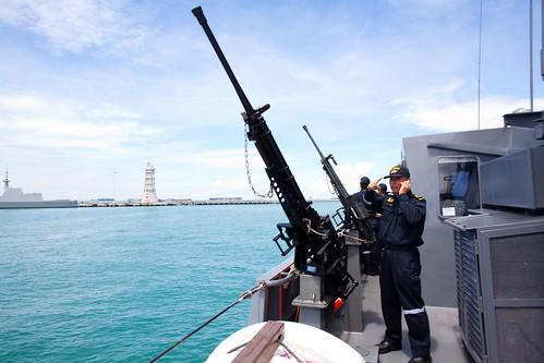Navy Sailors by their guns