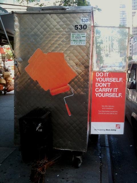 marketing people are so creative #walkingtoworktoday