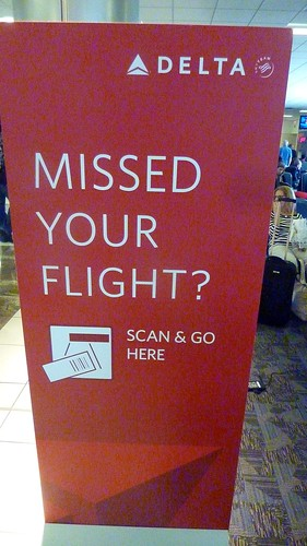 Self-serve Delta missed-flight kiosk, Noplace, USA, Atlanta, GA, USA.JPG