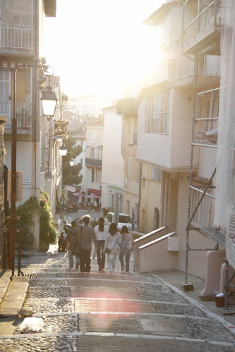 Walking down the streets of Cannes bathed in heavenly light