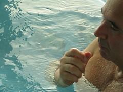 whirlpool (CONTROTONO) Tags: bear hairy man sexy male wet water closeup bathroom hotel hand chest dive shaved bald chesthair indoor drop mature barefoot shave bubble barefeet bathtub bathing splash soaking hairychest splashing bodyhair hairyman hairybody controtono