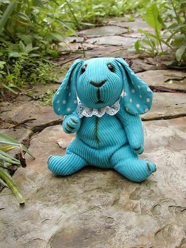 turquoise bunny