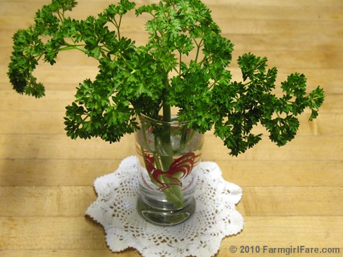 Parsley Bouquet in Rooster Glass 1