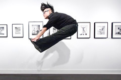 jump! (sgoralnick) Tags: show friends jump jumping gallery tribute phillip jumpology philippehalsman phillipckim laurencemillergallery