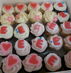 Matching Winx Minis (Sugar Daze) Tags: birthday pink blue cake hearts wings winx minicupcak