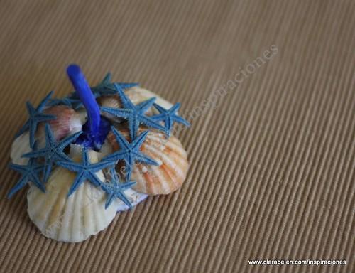 Manualidades: Un anillero realizado con la cabeza de un ajo. Resultado final