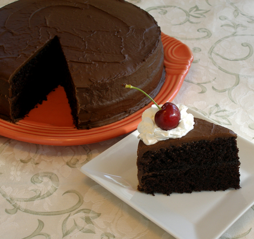 Reduced Fat Chocolate Fudge Cake by kellbakes for Baking911