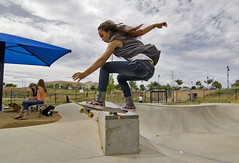 She's Like The Wind Skate 9056 (casch52) Tags: california park county portrait girl sport canon photo action surfer board air extreme ollie sidewalk photograph skate skateboard acrobat sacramento grab sundays sk8 50d tokina1116 nine16 familygetty2010 familygetty