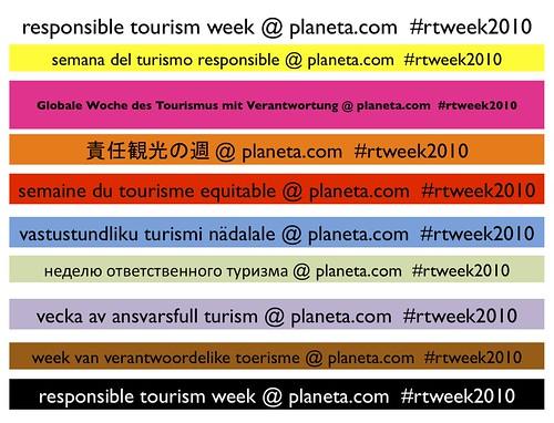 2010 Responsible Tourism Week
