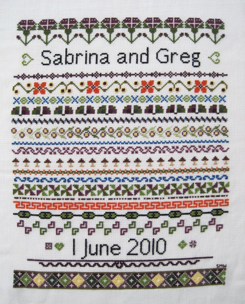 Wedding Sampler Close Up