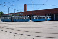 Betriebshof 2, Steinhausen (Wolkenkratzer) Tags: munich münchen tram depot streetcar tramway steinhausen 3037 ptrain pwagen 2028 einsteinstrase betriebshof2