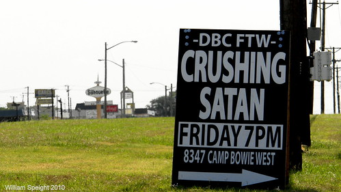 Crushing Satan on Camp Bowie