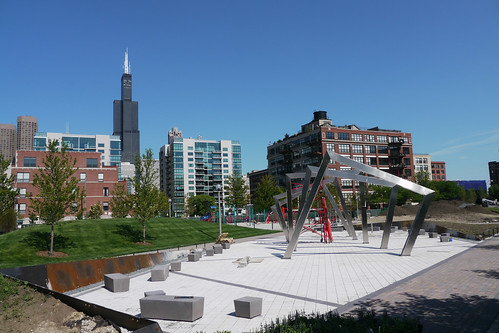 Adams Sangamon Park on the rise in the West Loop