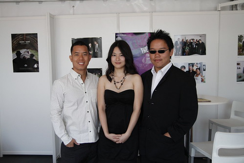 Ming Jin, Fooi Mun and me before press conference