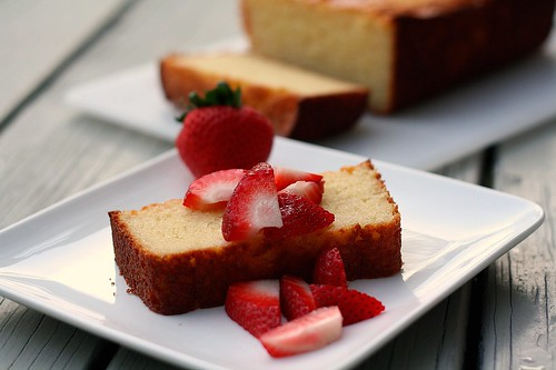 Ricotta Lemon Pound Cake with Strawberries by Tracey's Culinary ...