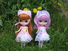 my two beautiful blythe,simply lilac and dear lele