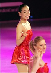 Figure skating stars- Mao Asada and Joannie Rochette (barnchristal) Tags: world girls red wonder dress skating champion nobody figure mao asada olympic figureskating joannie worldchampion medalist rochette maoasada