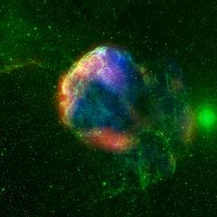 Jellyfish Nebula (radio/visible/X-ray) (wilde_space) Tags: radio jellyfish space nebula xray astronomy supernova visible gemini dss skyview remnant rosat ic443