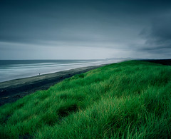 Fort Stevens (Zeb Andrews) Tags: film beach oregon coast horizon gray overcast stormy pacificocean pacificnorthwest oregoncoast fortstevens pacificcoast pentax6x7 bluemooncamera zebandrewsphotography