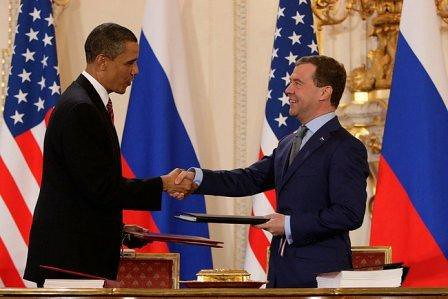 President Obama and President of Russia, Dmitry Medvedev, From ImagesAttr