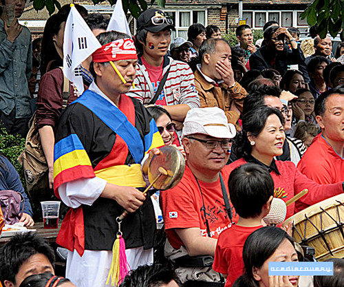 South Korea football fans, London