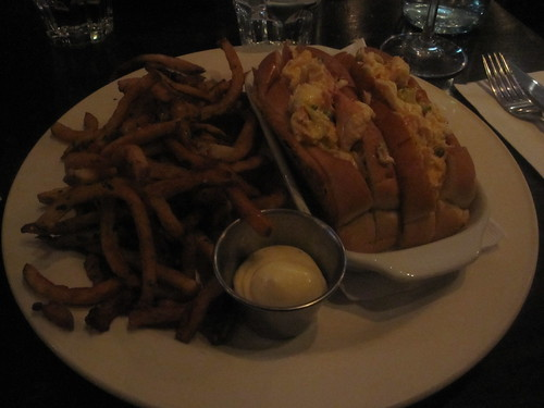 Lobster rolls and fries with spicy mayo at Lucille's