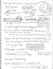 HOW Presentation Notes (Mig Reyes) Tags: lost design colorado denver passion networking threadless designers 2010 howconference thehushsound vonster vonglitschka migreyes
